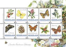 Paises Basos 2016  Marposa - flores  4 bloque   menta                   s
