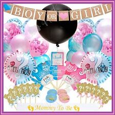 Gender Reveal Party Supplies (103pc) | Baby Shower Gender Reveal Decorations wit