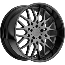 "(1) 18X9.5 +39 5X114.3 TSW RASCASSE GUNMETAL BLACK LIP WHEELS/RIMS 18"" 22668"
