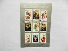 BAHAMAS: 1981 Christmas Sheet of 9 stamps VFU  Sg603/11