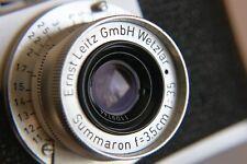 Leica Leitz 3.5cm f3.5 LTM M39 SUMMARON lens c/w front/rear caps