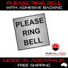 PLEASE RING BELL - SILVER SIGN - SQUARE - LABEL - PLAQUE with Adhesive 4CM x 4CM