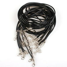 10x 130082 Wholesale New Black Imitation Leather Cord Charm Bracelet