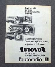 H161 - Advertising Pubblicità - 1963 - AUTOVOX , L'AUTORADIO