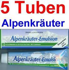 (20,50 EUR / 1Ltr.) LLOYD Alpenkräuter Emulsion - Creme 5 x 200 ml