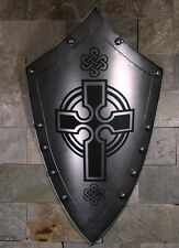 Hand-Made Iron European MEDIEVAL KNIGHT SHIELD All Metal 36'' Handcrafted