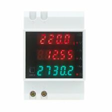 100A AC80 - 300V digital multifunctional DIN Rail Voltage Meter Voltmeter W X4X5