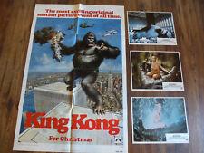 KING KONG JESSICA LANGE ORIGNAL 1976 ADVANCED ONE SHEET & 3 LOBBY CARDS