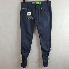 Goi Goi Dalstoni Womens Jeans Navy W32 L32 Cotton Ruched Leg Skimny Fit NWT