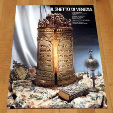 IL GHETTO DI VENEZIA poster manifesto affiche Cultura Ebraica Jewish Venice B11