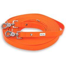 PetTec Trioflex Hundeleine Schleppleine Suchleine 10m Orange