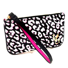 NEW Genuine VICTORIA'S SECRET Leopard Coin Purse Wallet Wristlet Mini Beauty Bag