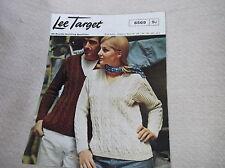 VINTAGE ORIGINALE Knitting Pattern Lee Target 6569 Doppio Lavorato a Maglia il suo Lei Cavo