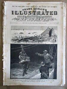 Vintage Print,NEW YORK STORM,Life Saving Corps,Leslies,1885