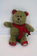 Starbucks Bearista Bear 2009 Green Plush Bear Red Scarf 188th Edition Stuffed