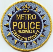 METRO NASHVILLE - DAVIDSON COUNTY TENNESSEE TN POLICE PATCH