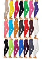 Damen lange Leggings Leggins lang Baumwolle Herren Wäsche Hose Röre Hauteng