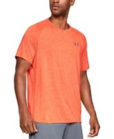 Under Armour Mens Orange Size Small S Activewear Shirt V-Neck UA $25 #027