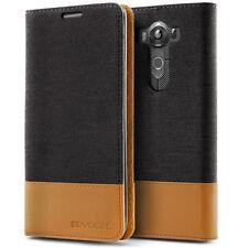 LG V10 Case, Evocel Canvas Flip Case with Seamless Magnetic Closure & Kickstand