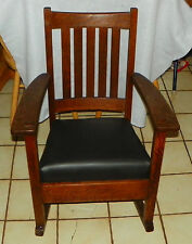 Quartersawn Oak Mission Rocker / Rocking Chair by Limberts  (R197)