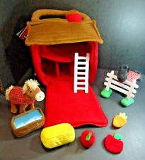 Fao Schwarz Barn Horse Stable Plush Playset