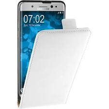 Artificial Leather Case for Samsung Galaxy Note FE - Flip-Case white Cover
