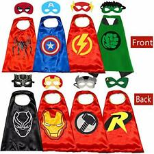 Superhero Capes and Masks for Kids - Kids Costumes Double Side Capes Best Supe..