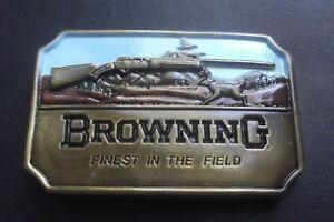 "BROWNING SHOTGUN Belt Buckle  ""Finest in the Field"""
