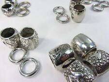 US SELLER-lot of 10 scarf rings large hole beads for DIY jewelry scarf
