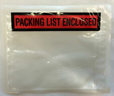 New Qty 50 X Packing List Enclosed Envelope Pouch Slip Invoice Receipt Red