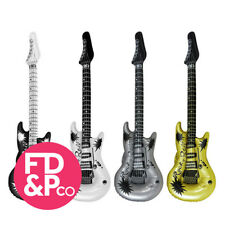 8x Inflatable Blow Up Guitar 106cm Rock & Roll Party Fancy Dress Disco Birth