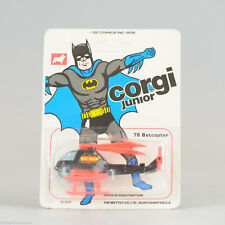 #Antique Batman Toy# CORGI Juniors Batman BATCOPTER Diecast Model Car Mettoy