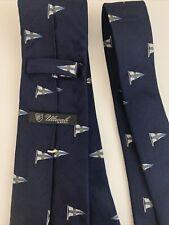 Ulturale, cravatta in seta blu