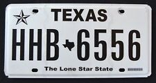 """TEXAS """" THE LONE STAR STATE - MAP - HHB 6556 """" TX Graphic License Plate"""