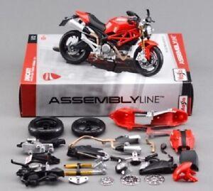 Maisto 1:12 Ducati MONSTER 696 Assemble DIY Motorcycle Bike Model Toy New In Box