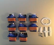 8 x 9g SG Servo Motor 90 Decigrams, Ø5mm Tower, Light Pro & Hobby FSEN ■