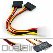4pin Molex Stecker auf 2x 15pin SATA Buchse IDE 20cm Y Stromkabel Splitter