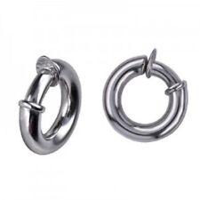 40% SALE Genuine SS Italian Dome Clip On Hoop Earrings RRP $115