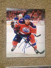 Taylor Hall Autographed 8x10 Photo Edmonton Oilers Windsor Spitfires CANADA