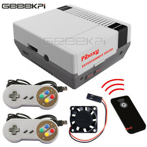 NESPI Case Piboxy NES Case with USB Wired Controller for Raspberry Pi 3 B+ /3/2B