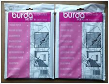 2 x Burda Tissue Tracing Paper Dressmaking Tailors Craft Uses