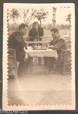 vintage Bulgarian photo men playing chess 1940's #1