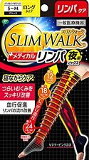 SLIM WALK Medical Lymph Swollen-leg Care In-bed Long Socks S-M Size