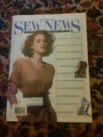009 Vintage September 1989  SEW NEWS MAGAZINE FOR PEOPLE WHO SEW
