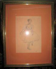 French Impressionist Edgar Degas Old Litho Of A Dancer Danseuse