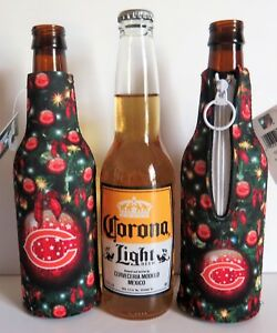 THREE (3) CHICAGO BEARS,CHRISTMAS DESIGN, NEOPRENE BOTTLE SUITS (CLOSEOUT)