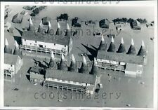 1968 Aerial Flooded Whitbread Oast Houses Paddock Wood Kent England Press Photo