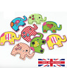 2 Holes WOODEN ELEPHANT BUTTONS for Card Making Wood Craft Sewing Scrapbook
