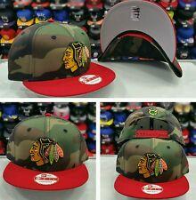 Camofalsh / Red New Era Chicago Black Hawks snapback Hat Cap