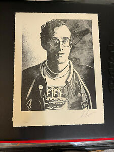 Shepard Fairey Obey Giant Keith Haring Letterpress Art Print /450 Signed LE Mint